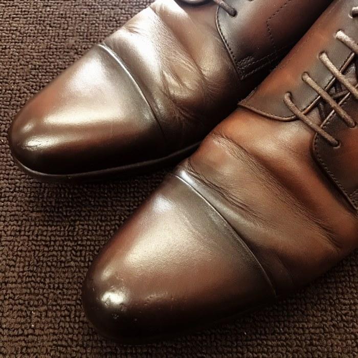 紳士靴リペイント(補修後)
